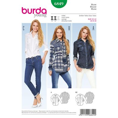 Burda patroon 6849 blouse