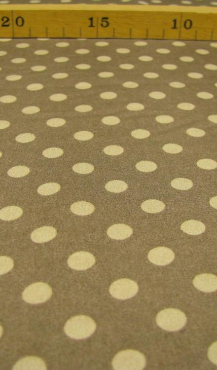Crepe polyester stip bruin beige