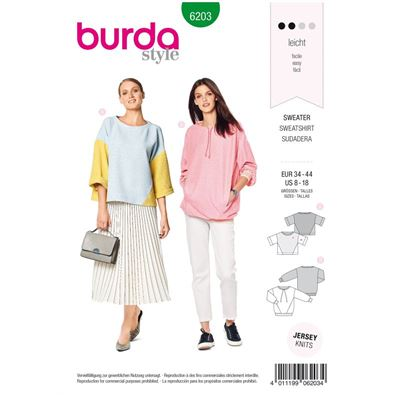 Burda patroon 6203 sweater