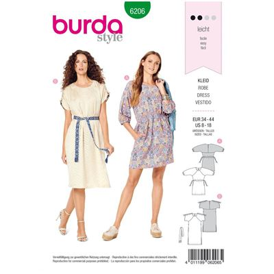 Burda patroon 6206 jurk
