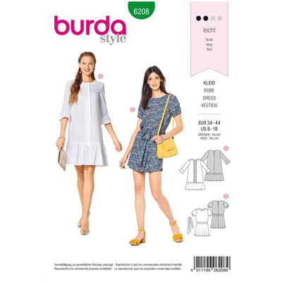 Burda patroon 6208 jurk
