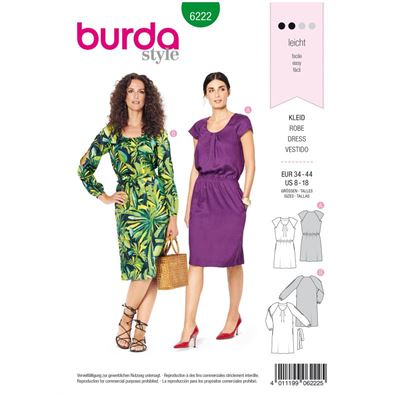Burda patroon 6222 jurk