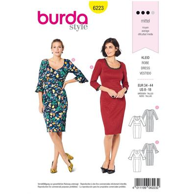 Burda patroon 6223 jurk
