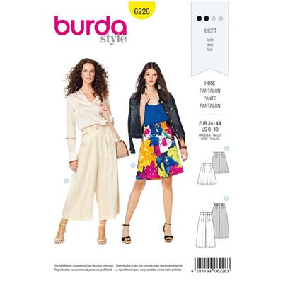 Burda patroon 6226 pantalon