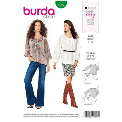 Burda patroon 6227 blouse