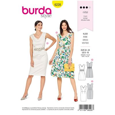 Burda patroon 6228 jurk