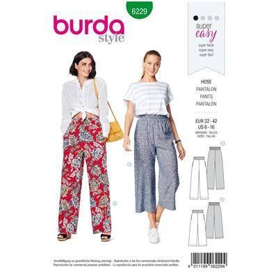 Burda patroon 6229 pantalon
