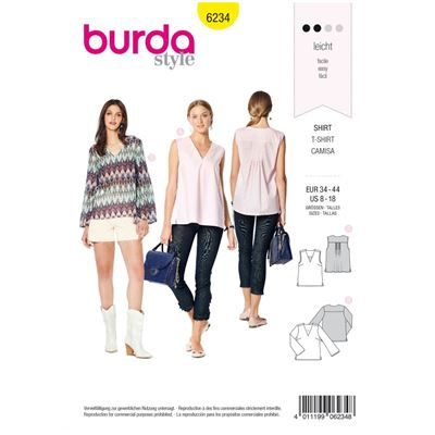 Burda patroon 6234 shirt