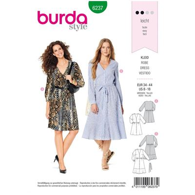 Burda patroon 6237 jurk