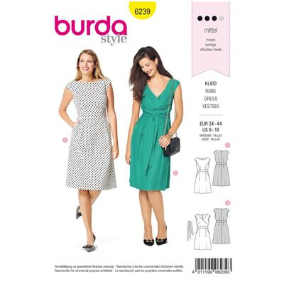 Burda patroon 6239 jurk