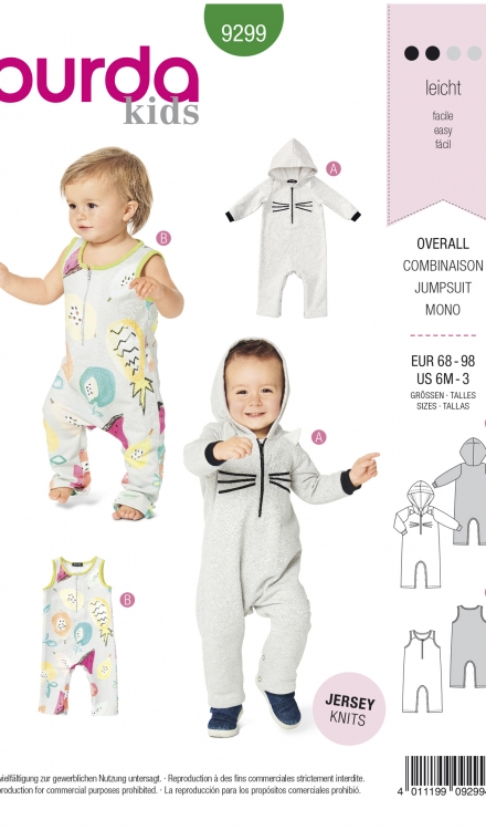 Burda patroon 9299 jumpsuit