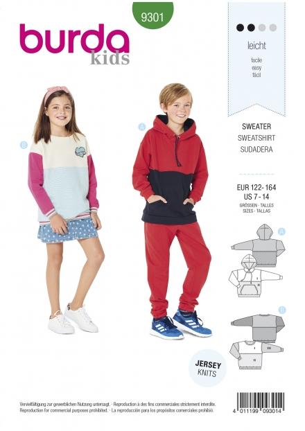 Burda patroon 9301 sweater