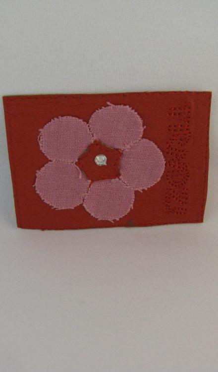 Applicatie trendz rood bloem