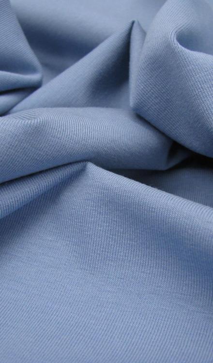 Tricot denimblauw uni