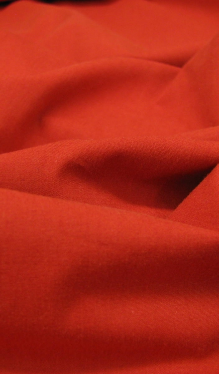 washed poplin rood