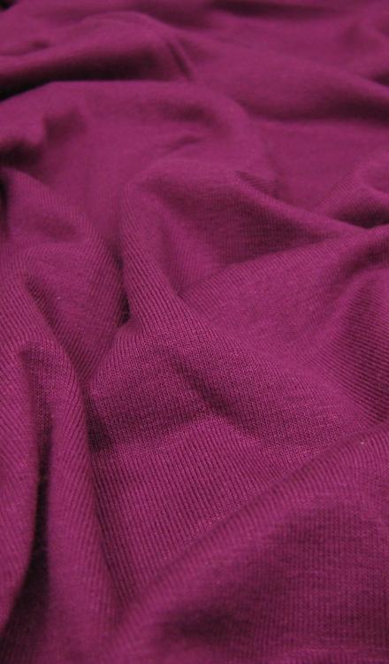 Tricot paars/roze uni Rijs