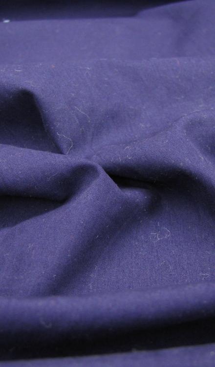 Poplin uni donker blauw