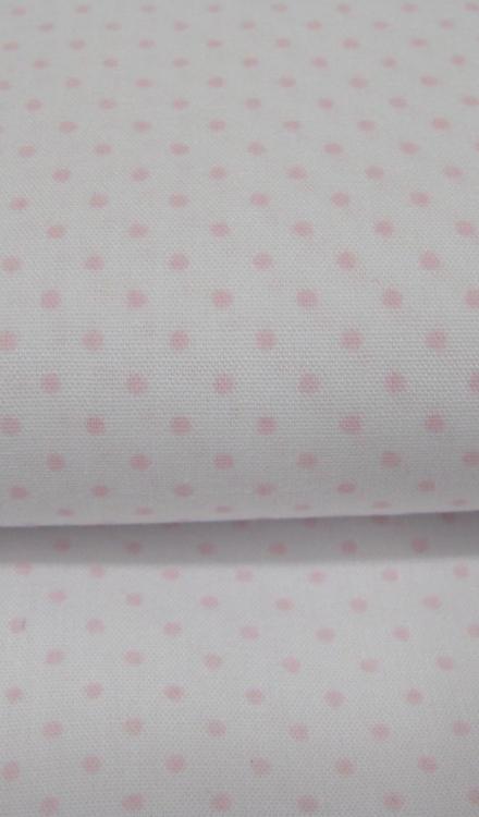 Wit met een roze bolletje