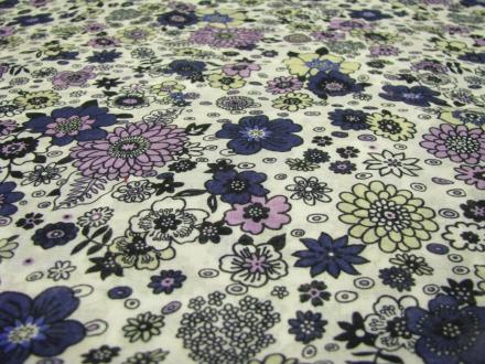 Katoen bloem blauw paars Gossypium
