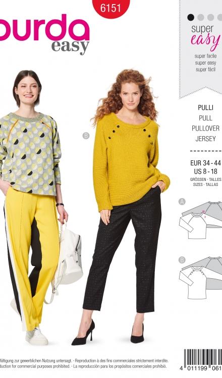 Burda patroon 6151 sweater