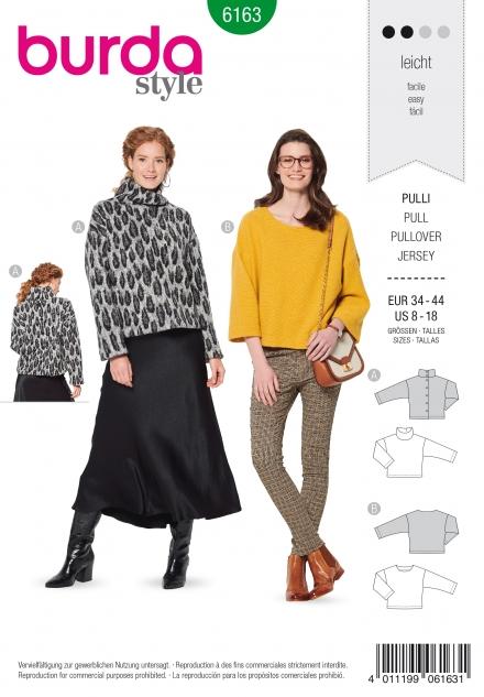 Burda patroon 6163 sweater