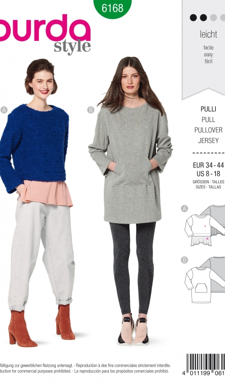 Burda patroon 6168 sweater
