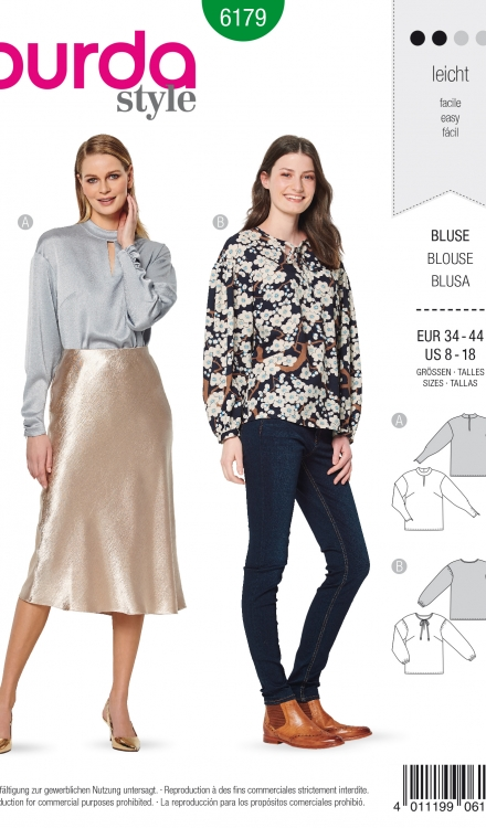 Burda patroon 6179 blouse