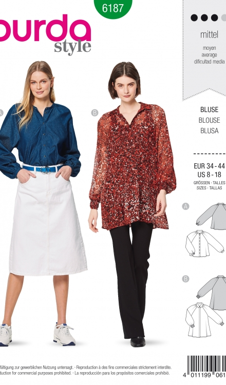 Burda patroon 6187 blouse