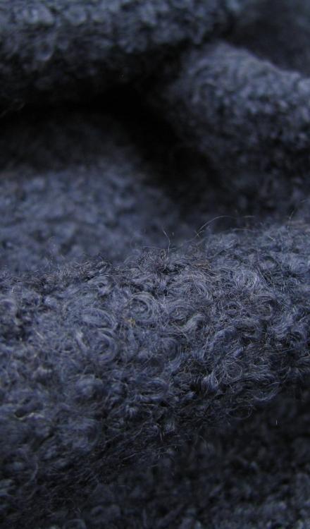 Mantelstof donkerblauw Gossypium