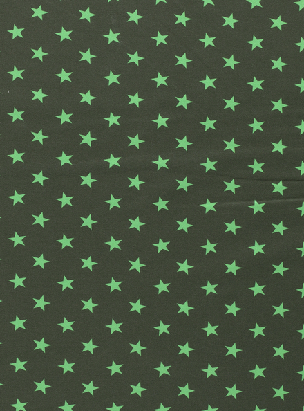 French terry groen met sterren