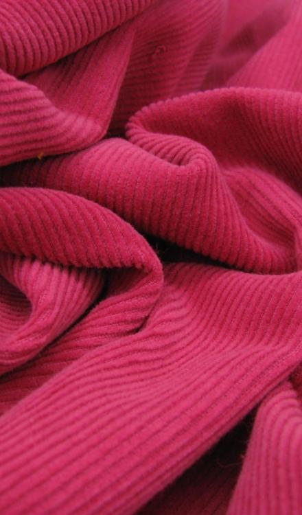 Fuchsia roze rib Polytex