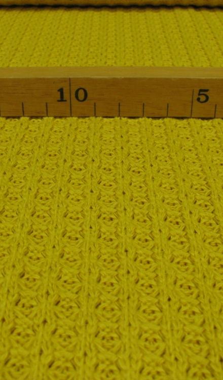 Gebreide gele stof Rijs