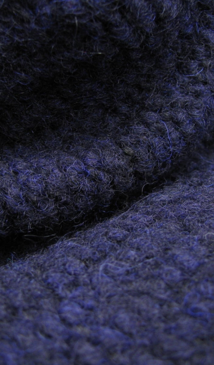 Gebreid donkerblauw Gossypium