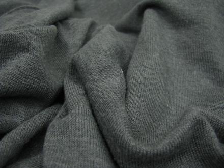 Fijn gebreide stof grijs