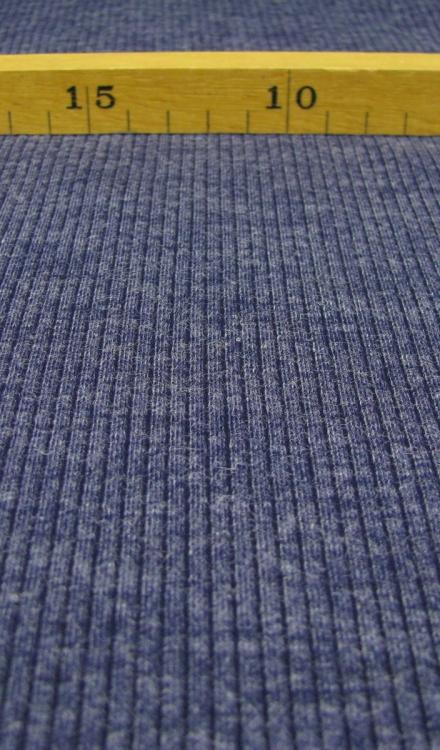 Gebreide stof blauw Editex