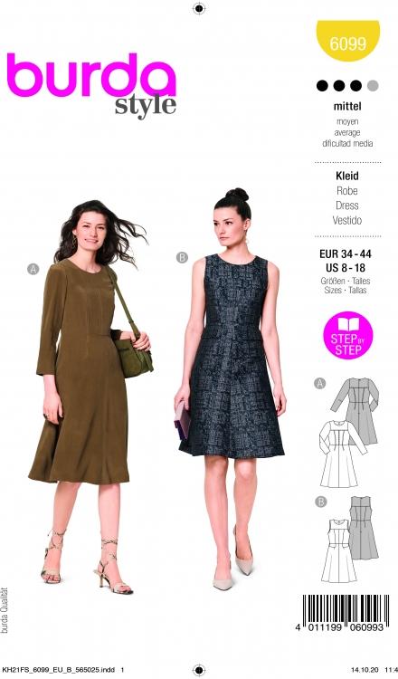 Burdapatroon 6099 jurk