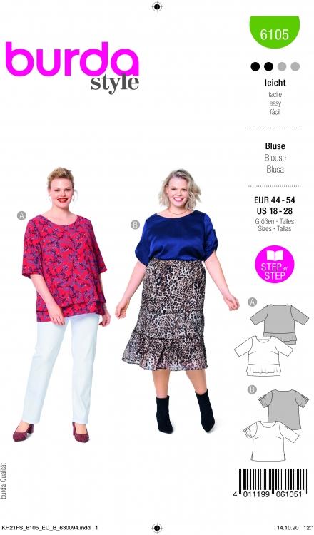 Burda patroon 6105 blouse
