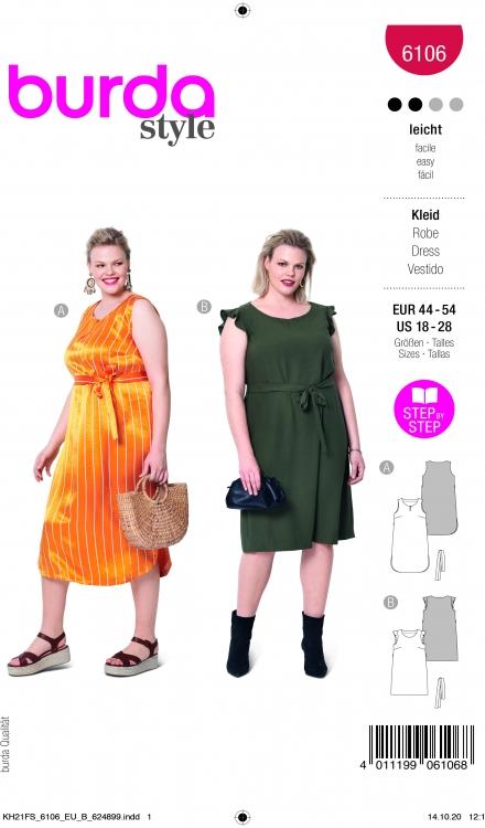 Burda patroon 6106 jurk