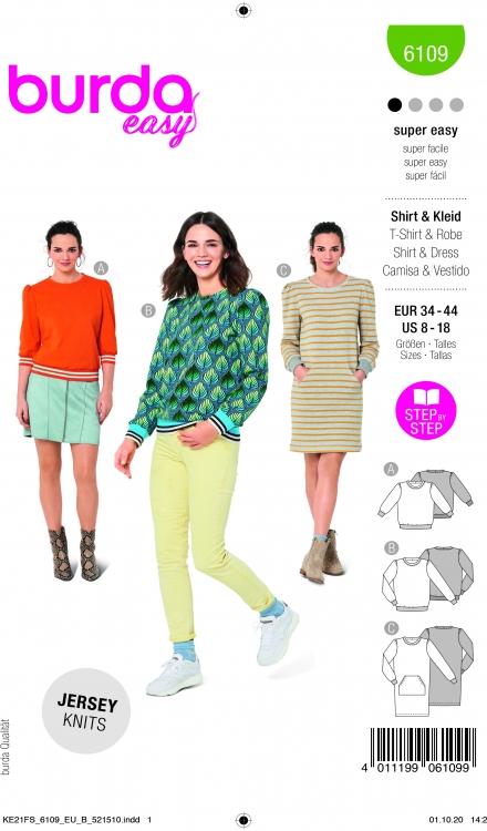 Burda patroon 6109 sweatshirt en jurk