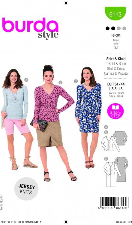 Burda patroon 6113 shirt en jurk