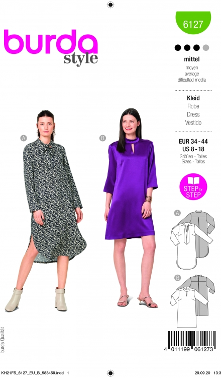 Burda patroon 6127 jurk