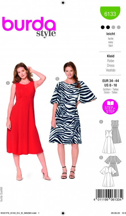 Burda patroon 6133 jurk