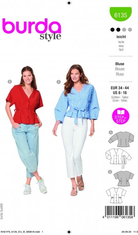 Burda patroon 6135 blouse