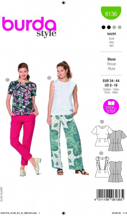 Burda patroon 6136 blouse