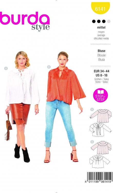 Burda patroon 6141 blouse