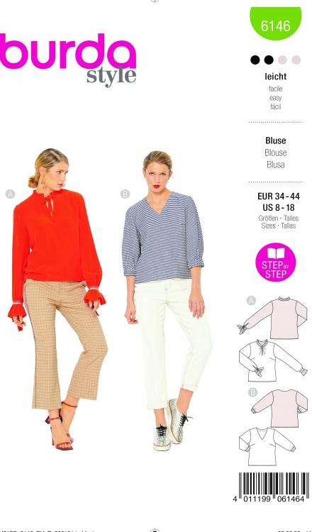 Burda patroon 6146 blouse