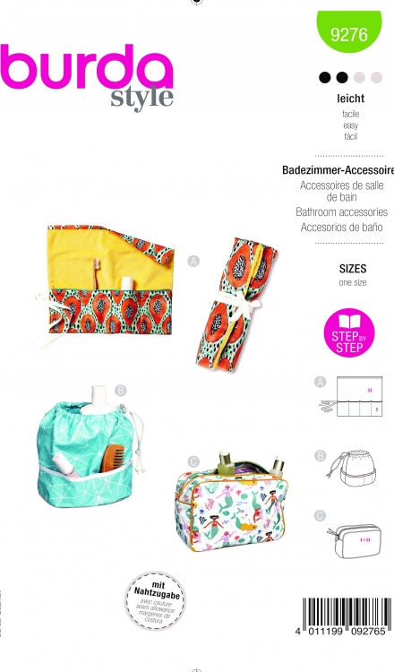 Burda patroon 9276 badkamer accessoires