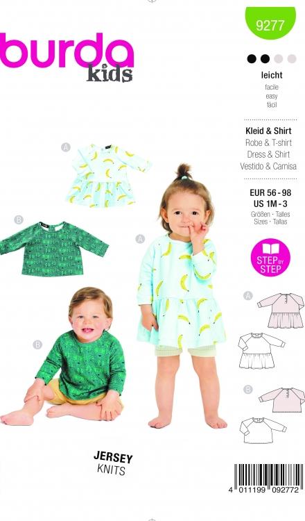 Burda patroon 9277 jurk en shirt