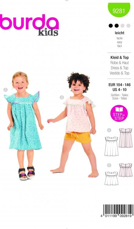 Burda patroon 9281 jurk en top