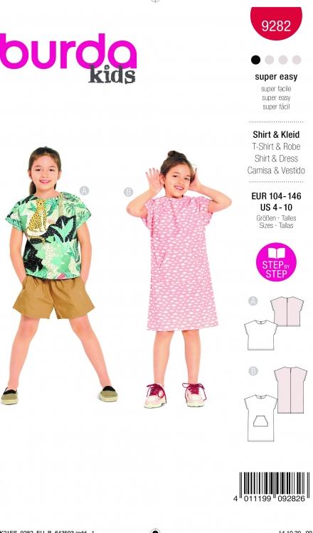 Burda patroon 9282 top en jurk
